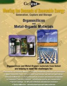 Organosilicon and Metal-Organic Materials for Renewable Energy